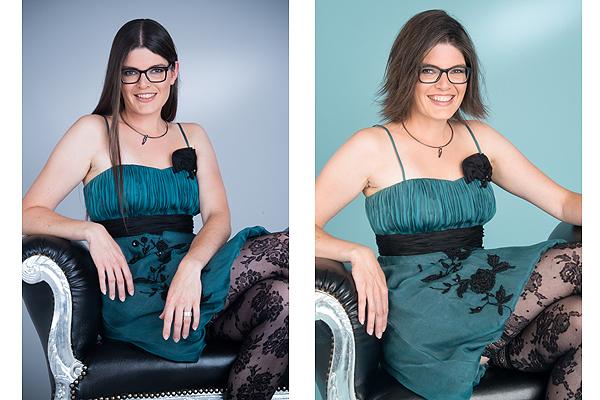 Claudia Larsen Fotostudio Für Frauen Newsletter Vorhernachher